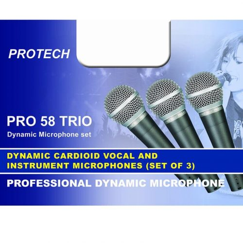PRO 58 TRIO סט 3 מיקרופונים מקצועיים