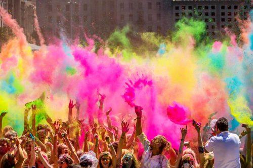 אבקות קונפטי צבע למסיבה