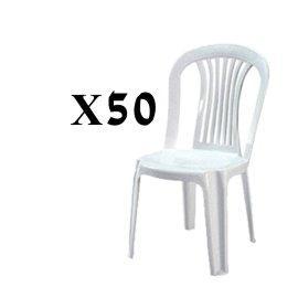 השכרת 50 כסאות פלסטיק