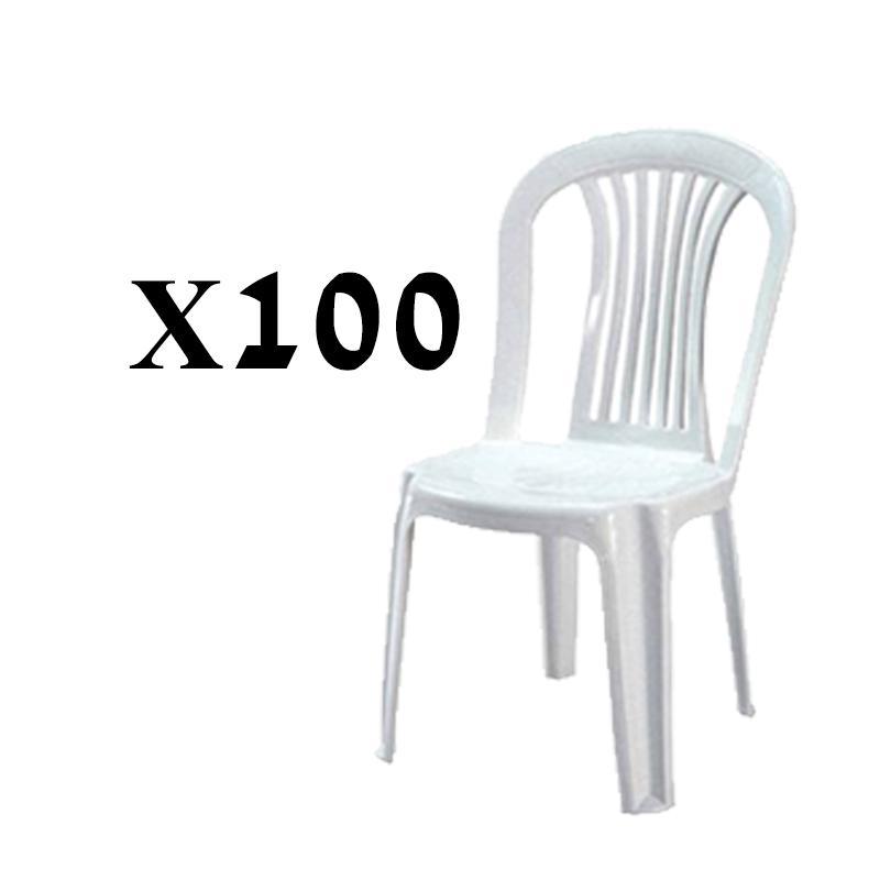 השכרת 100 כסאות פלסטיק