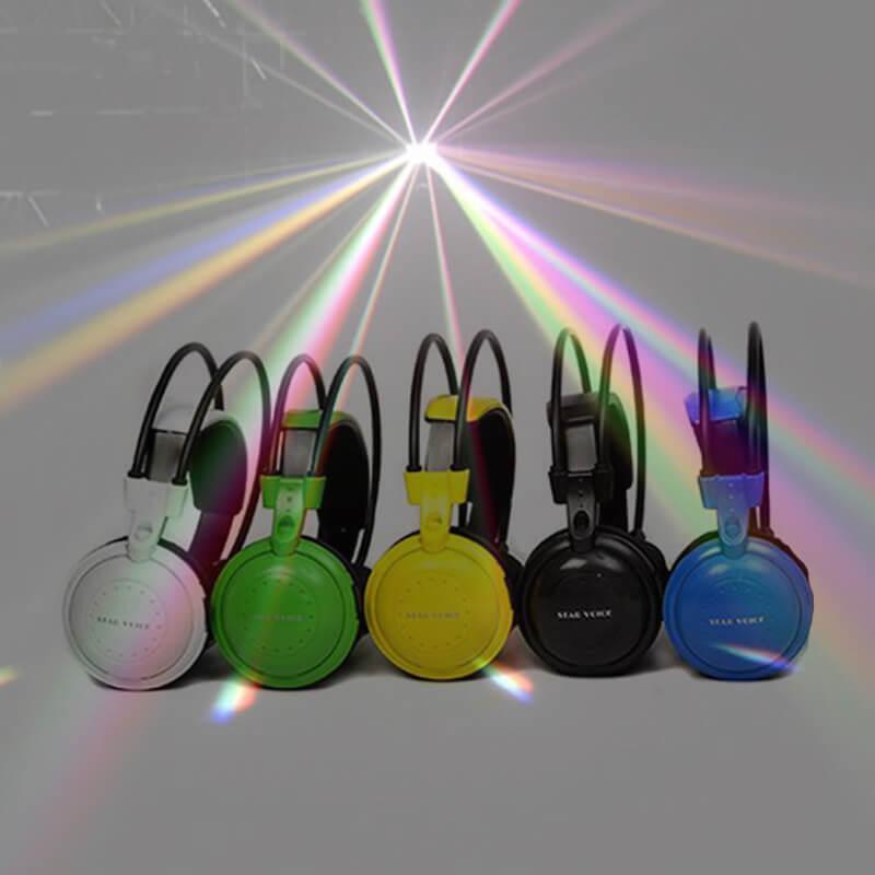 חבילת 50 אוזניות + תאורת אפקטים