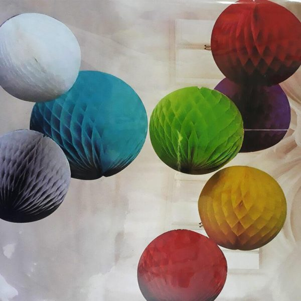 כדורי נייר צבעוני לתלייה