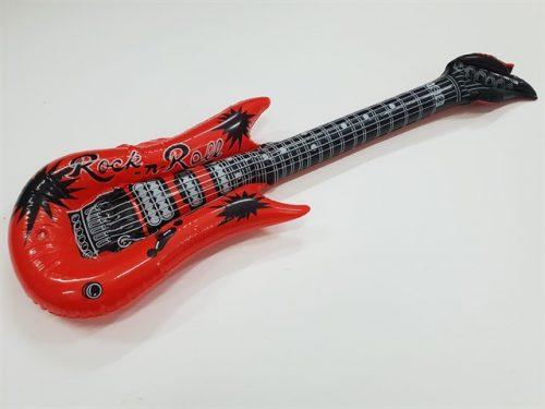 גיטרה גומי גדולה מתנפחת אדום