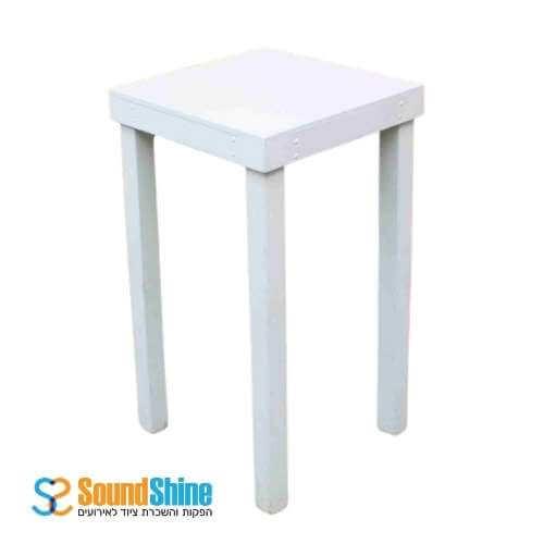 השכרת שולחן בר לבן 0.80X0.80 מ'
