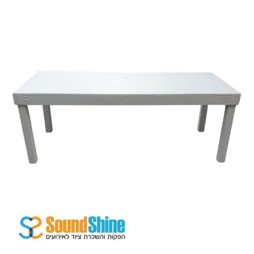 """השכרת שולחן לבן 80X200 ס""""מ"""