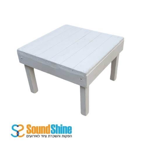 השכרת שולחן זולה נמוך צבע לבן